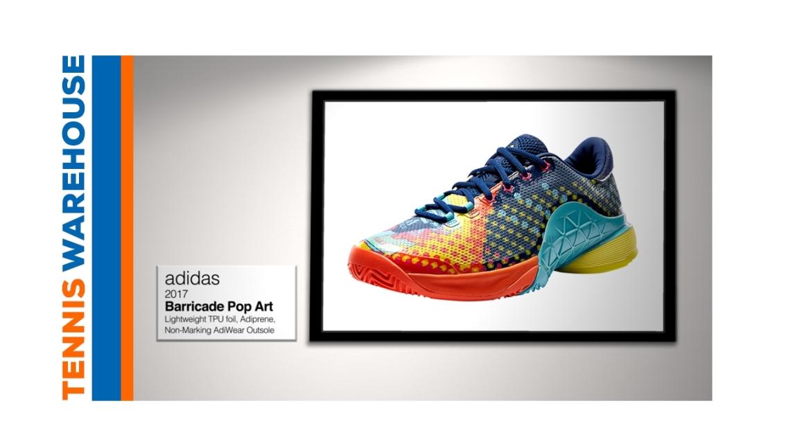 """Tennis Warehouse: """"adidas Barricade 2017 Pop Art Tennis Shoe"""""""