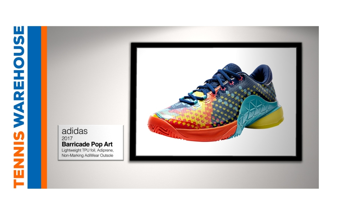 "Tennis Warehouse: ""adidas Barricade 2017 Pop Art Tennis Shoe"""