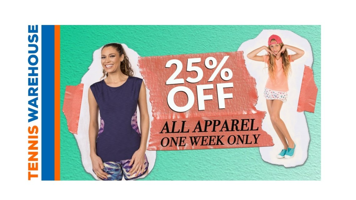 "Tennis Warehouse: ""Sitewide Apparel Sale - Spring 2017"""